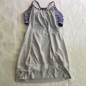 Lululemon No Limits Tank Pigment Blue Stripe
